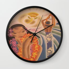 Vintage Hawaii Wall Clock