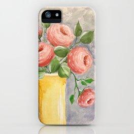 Peach Roses iPhone Case