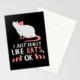 Unique Rat Gifts Rats Owner Lover Gift Stationery Cards