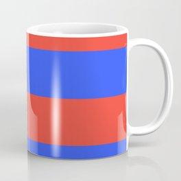 Even Horizontal Stripes, Blue and Red, XL Coffee Mug