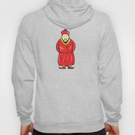 Chinese Asian Man Wearing Robe Cartoon Hoody