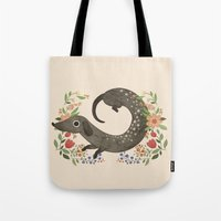 dachshund Tote Bags featuring Dachshund by A.Vogler
