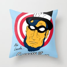 Abe, Captain of America Throw Pillow