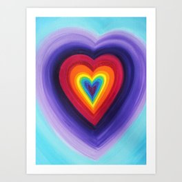 Rainbow Heart Art Print