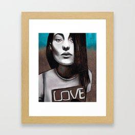 Girl love Framed Art Print