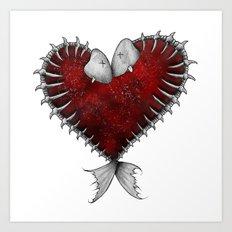 Heart - Fish Art Print