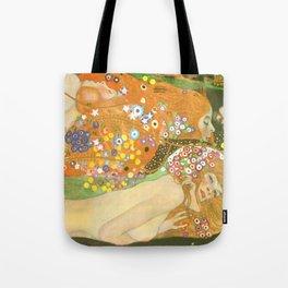 """Gustav Klimt """"Water Serpents"""" Tote Bag"""