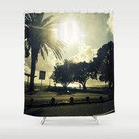portugal Shower Curtains featuring Porto (Portugal) by Mr. Ten Fingers