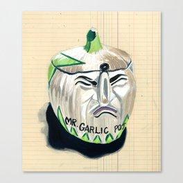 Mr. Garlic Pot in Gouache Canvas Print