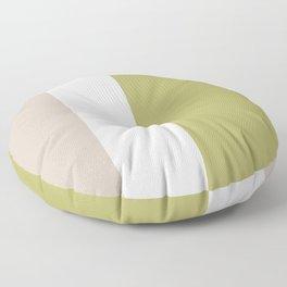Modern Minimal Colorblock Linden Green Floor Pillow