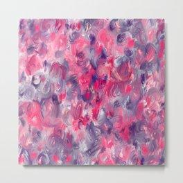 Painted red flowerbed Metal Print