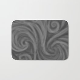 Dark Gray Swirl Bath Mat