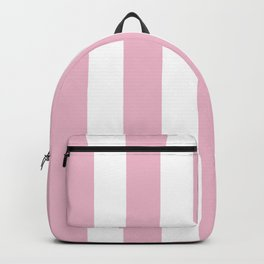 Cameo pink - solid color - white vertical lines pattern Backpack