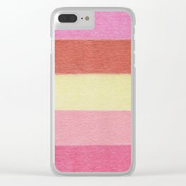Summer Flowers Color Blocks - Color Palette No 4 Clear iPhone Case