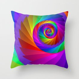 colorful spiral -60- Throw Pillow