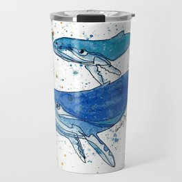 Whale Mommy and Baby Travel Mug