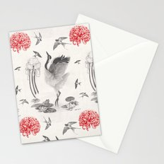 Crane, Swallow, Frog Stationery Cards