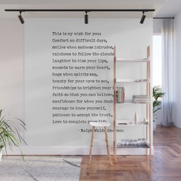 My Wish For You, Ralph Waldo Emerson Quote.  Wall Mural