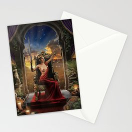 XI. Justice Tarot Card Illustration (Color) Stationery Cards
