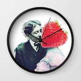 Strawberry love Wall Clock