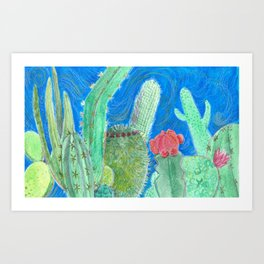 Cactus relationships Art Print