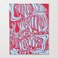 phish Canvas Prints featuring Bouncing Around the Room in Red and Blue by Alex Boucher