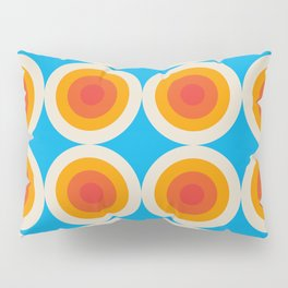 Kauai 16 - Colorful Classic Abstract Minimal Retro 70s Style Graphic Design Pillow Sham