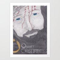 Omnes Christifideles Art Print