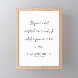 3   | Charlotte Bronte Quotes | 210226 | Framed Mini Art Print