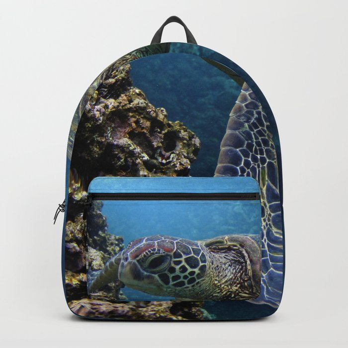 Green Sea Turtle Backpack by heidiingram  aab98a23d788a