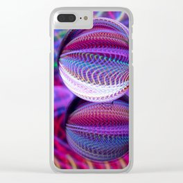 Waves of colour in the crystal ball. Clear iPhone Case