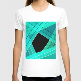 Turquoise silk T-shirt