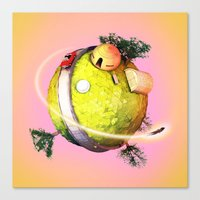 dragonball Canvas Prints featuring Planet Kai DragonBall Z by Neil Stratford