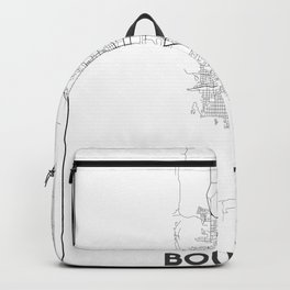 Minimal City Maps - Map Of Boulder, Colorado, United States Backpack