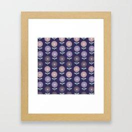 Atomic Age Flower Pattern 3 Framed Art Print