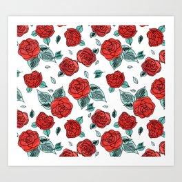 Run for the Roses Art Print