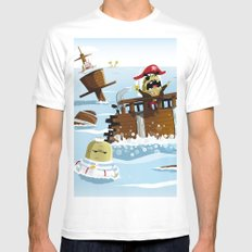Pirates Mens Fitted Tee White MEDIUM