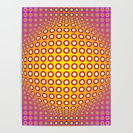Vasarely style Poster