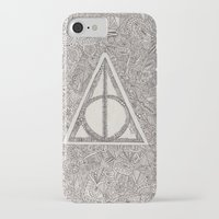 deathly hallows iPhone & iPod Cases featuring deathly hallows by Clara Lucie P