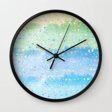 Spring Splatter Wall Clock