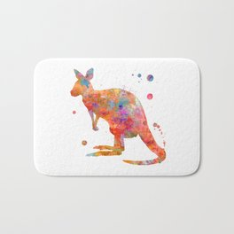 Colorful Kangaroo Bath Mat
