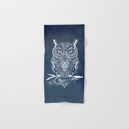 Warrior Owl Night Hand & Bath Towel