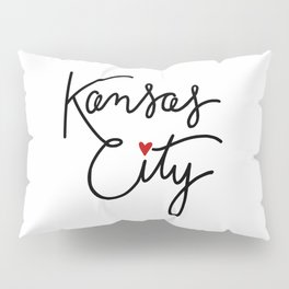 Cursive Kansas City Love Pillow Sham