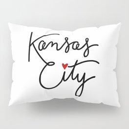 Cursive Kansas City Love Pillow Sham