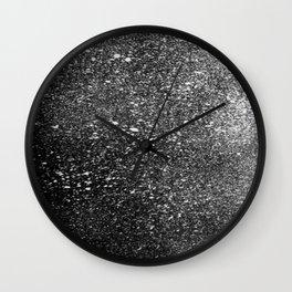 Inverted Splatter Print #2 Wall Clock