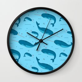 Narwhals Are The Unicorns Of The Sea Wall Clock
