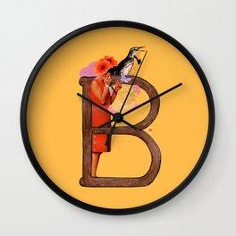"A TO Z - ""B"" Wall Clock"