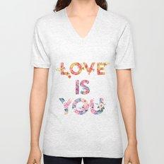 Love is you Unisex V-Neck