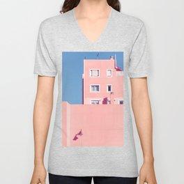 Sunny House And Blue Sky Unisex V-Neck