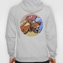 Abby Rests Boxer Dog Portrait Hoody